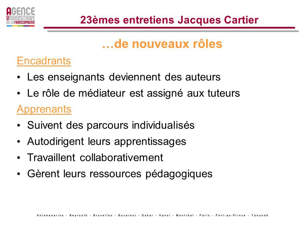 Stratégies dintégration des TIC 23èmes entretiens Jacques Cartier