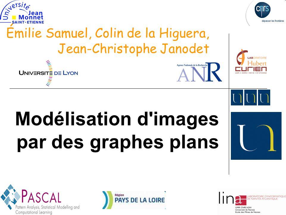 1 Modélisation d images par des graphes plans Émilie Samuel, Colin de la Higuera, Jean-Christophe Janodet