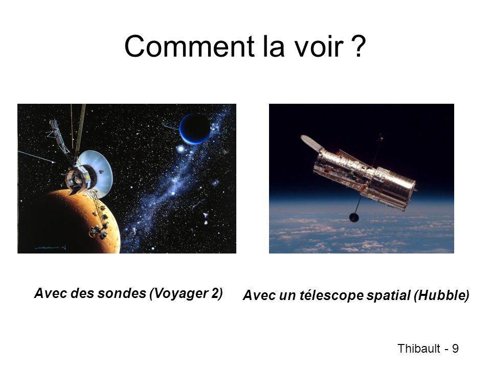 Comment la voir ? Avec un télescope spatial (Hubble) Avec des sondes (Voyager 2) Thibault - 9
