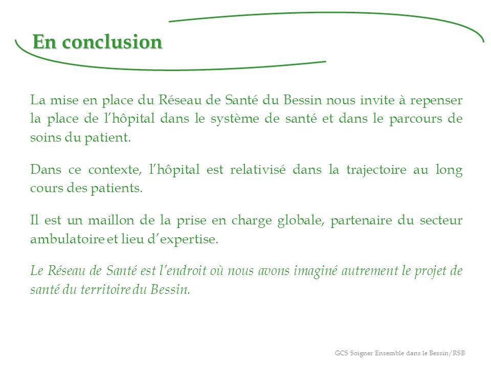 En conclusion La mise en place du Réseau de Santé du Bessin nous invite à repenser la place de lhôpital dans le système de santé et dans le parcours de soins du patient.