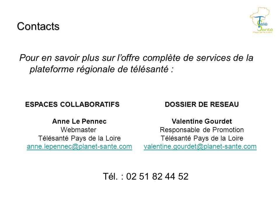 Contacts Pour en savoir plus sur loffre complète de services de la plateforme régionale de télésanté : Tél.