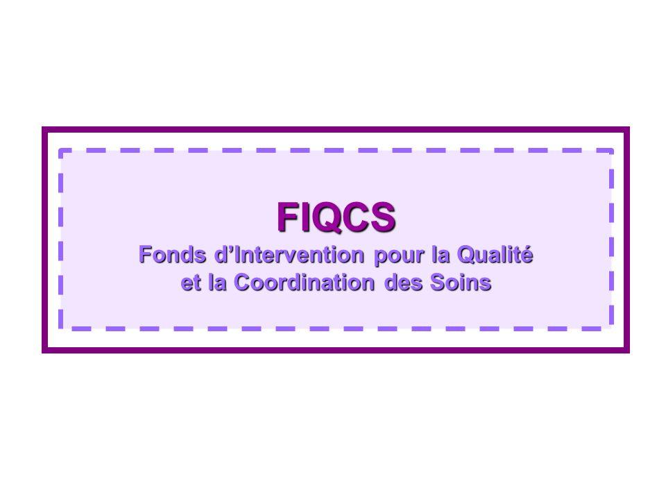 Mise en place du FIQCS et cadre juridique Mise en place du FIQCS et cadre juridique Les recommandations de lIGAS : Fusion FAQSV et DRDR dans un fonds unique Rénovation profonde du pilotage de ce fonds unique Politique par type de réseaux Le cadre juridique : Loi du 21 décembre 2006 de financement de la sécurité sociale (art.94) créé le FIQCS Décret dapplication du 15 mai 2007 Mise en œuvre : 1er juillet 2007