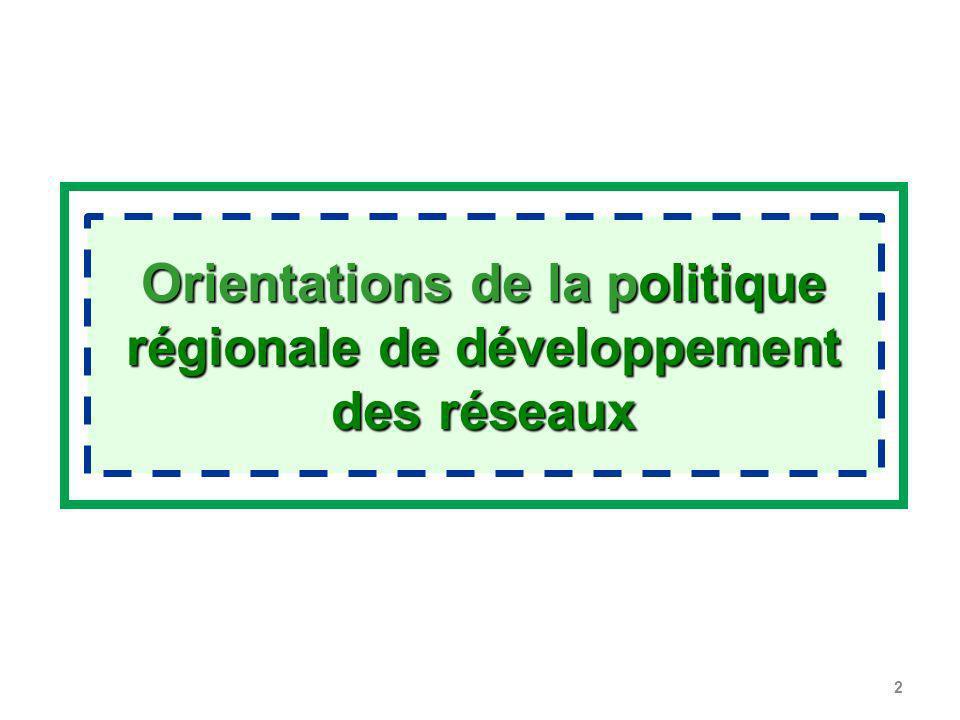 2 Orientations de la politique régionale de développement des réseaux