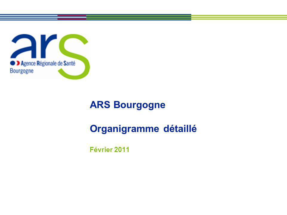 ARS Bourgogne Organigramme détaillé Février 2011