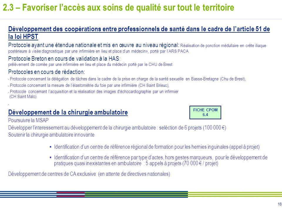 18 Développement des coopérations entre professionnels de santé dans le cadre de larticle 51 de la loi HPST Protocole ayant une étendue nationale et m