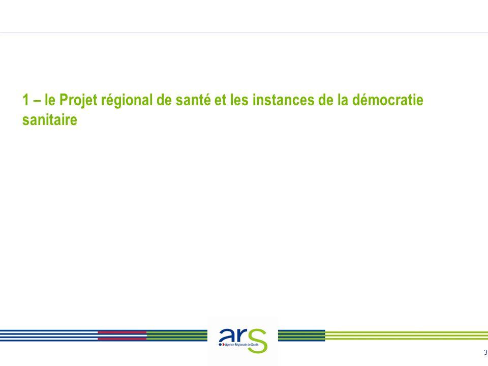 3 1 – le Projet régional de santé et les instances de la démocratie sanitaire