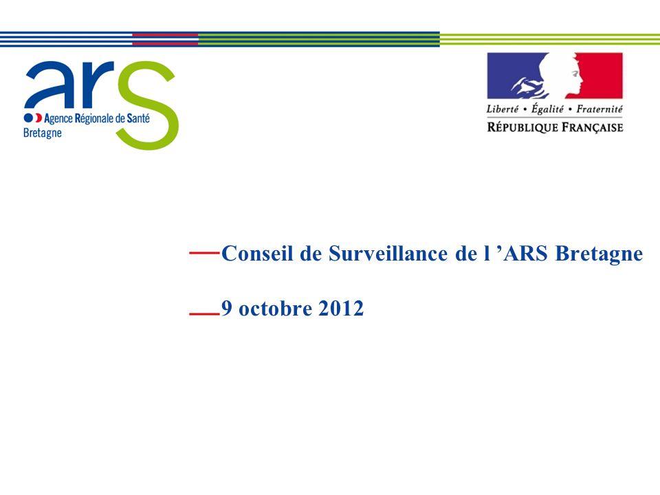 XX/XX/XX Conseil de Surveillance de l ARS Bretagne 9 octobre 2012