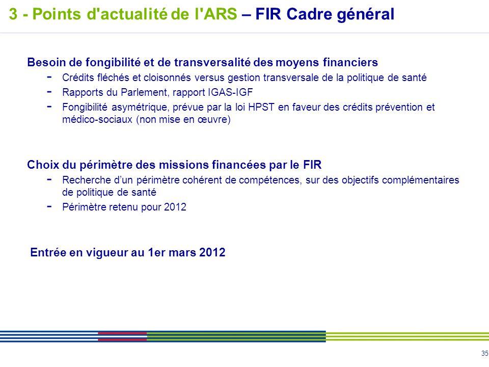 35 Besoin de fongibilité et de transversalité des moyens financiers - Crédits fléchés et cloisonnés versus gestion transversale de la politique de san