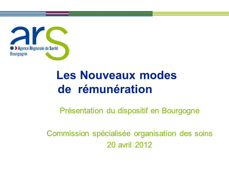XX/XX/XX Les Nouveaux modes de rémunération Présentation du dispositif en Bourgogne Commission spécialisée organisation des soins 20 avril 2012