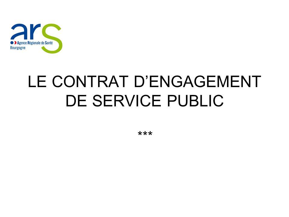 LE CONTRAT DENGAGEMENT DE SERVICE PUBLIC ***