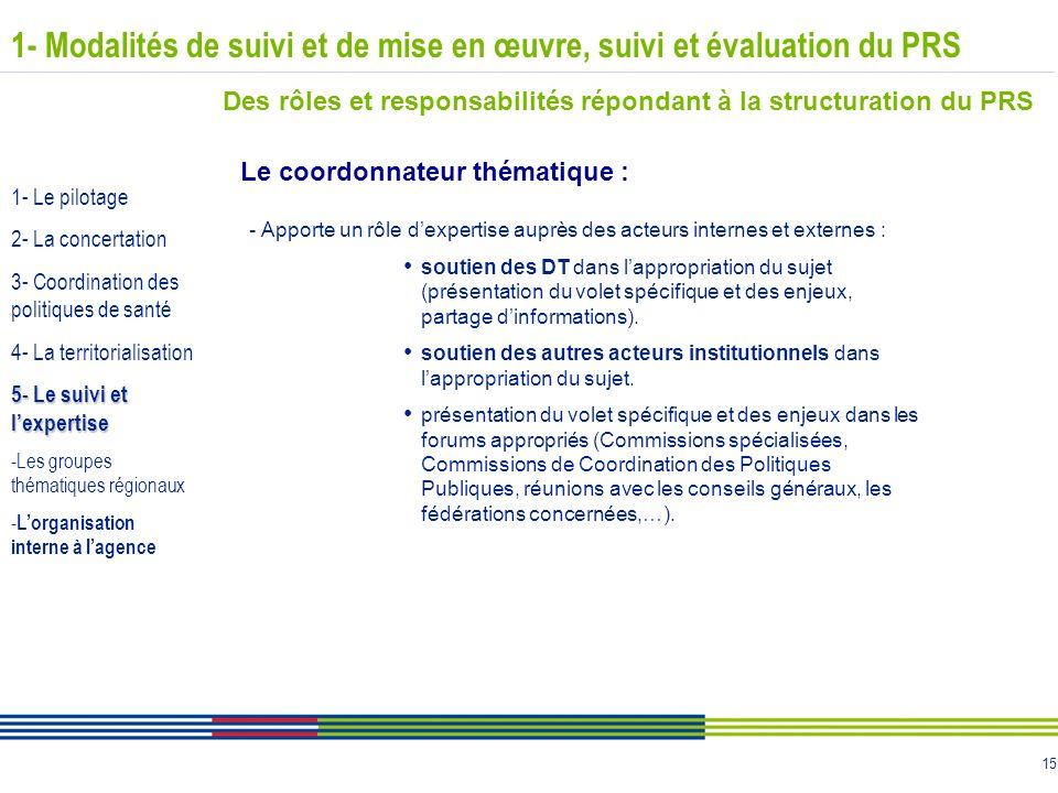 15 - Apporte un rôle dexpertise auprès des acteurs internes et externes : soutien des DT dans lappropriation du sujet (présentation du volet spécifiqu