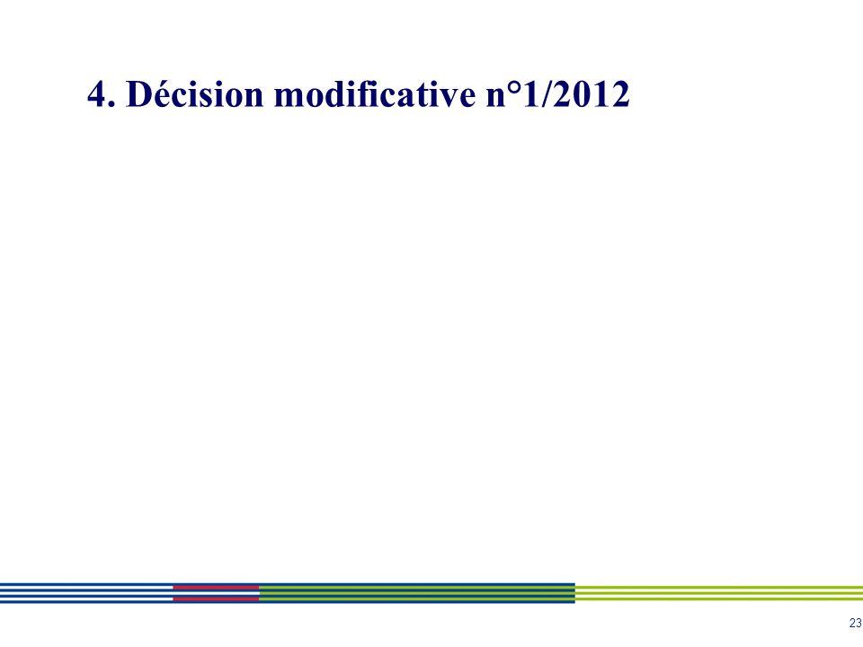 23 4. Décision modificative n°1/2012