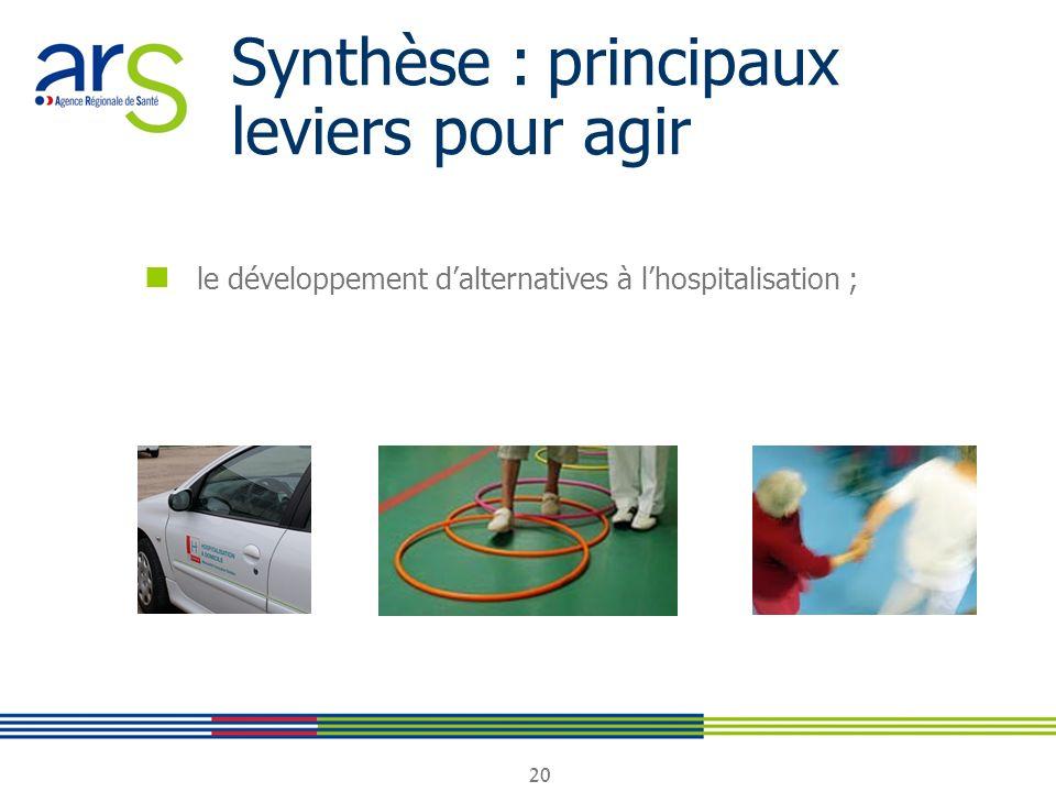 20 Synthèse : principaux leviers pour agir le développement dalternatives à lhospitalisation ;