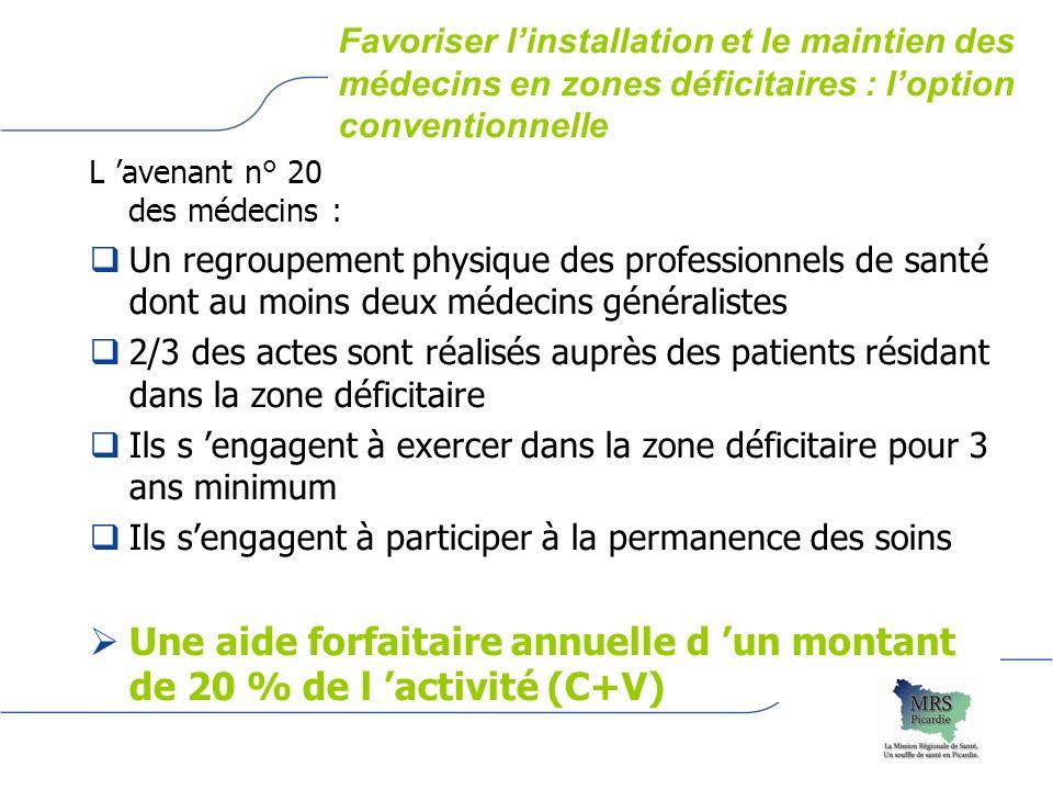 L avenant n° 20 du 7 février 2007 à la convention nationale des médecins : Un regroupement physique des professionnels de santé dont au moins deux méd