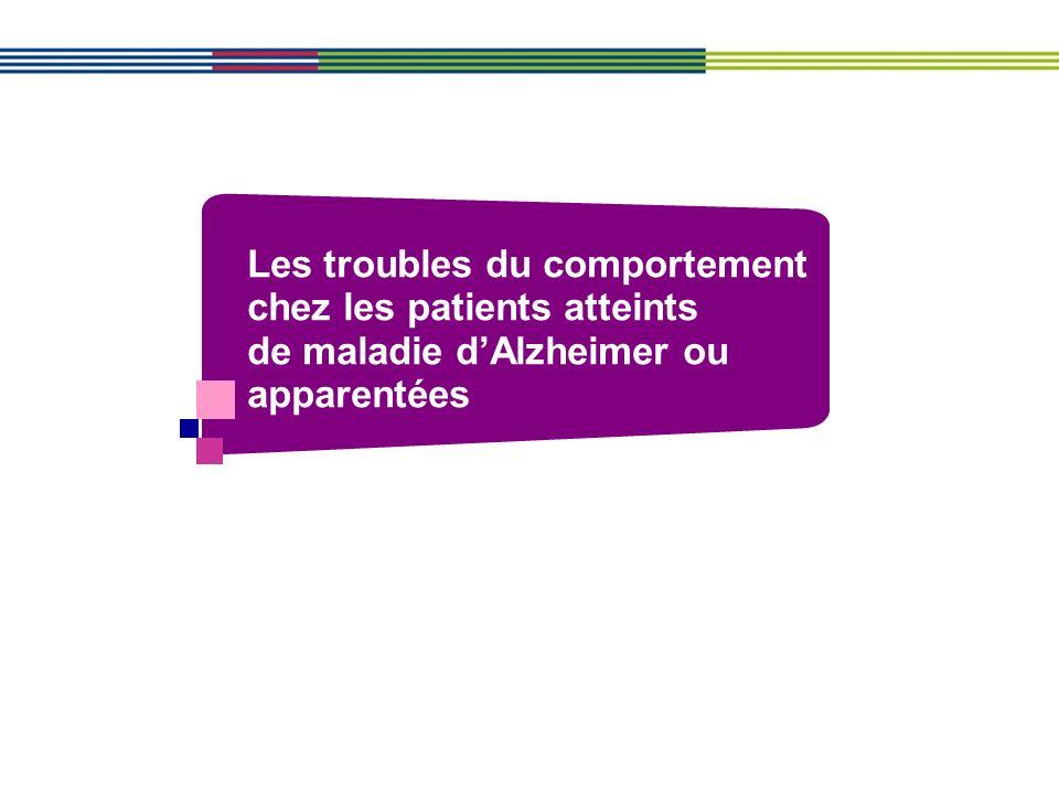 Les troubles du comportement chez les patients atteints de maladie dAlzheimer ou apparentées