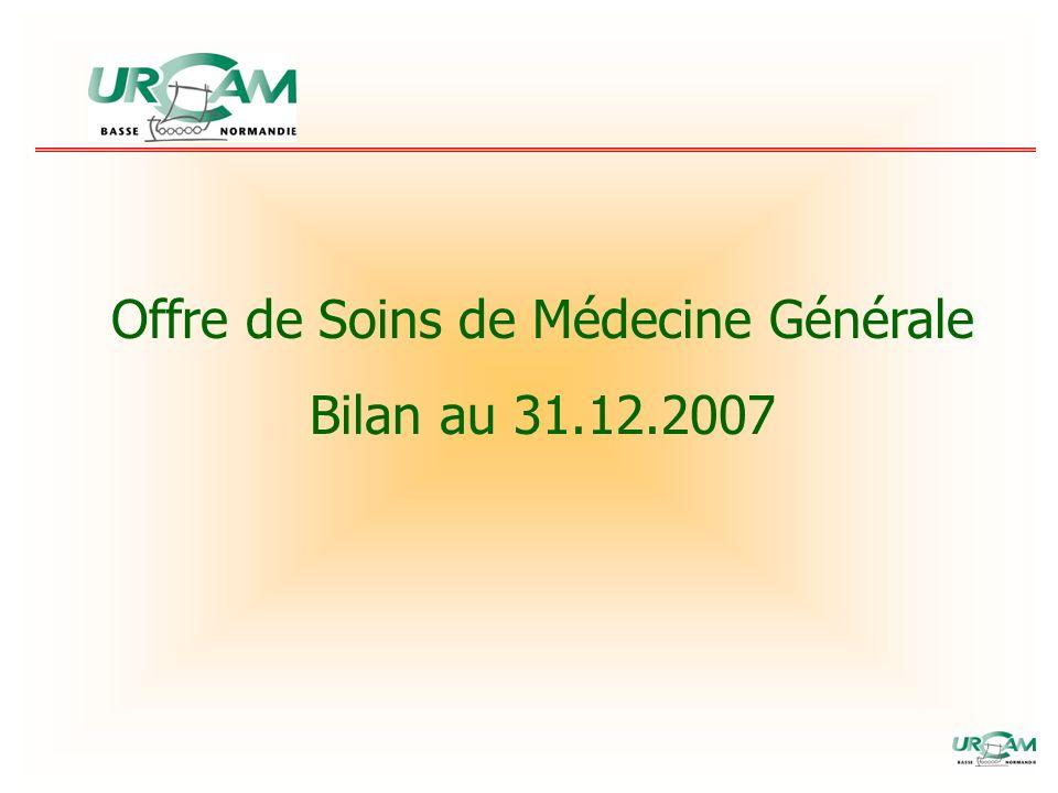 Offre de Soins de Médecine Générale Bilan au 31.12.2007
