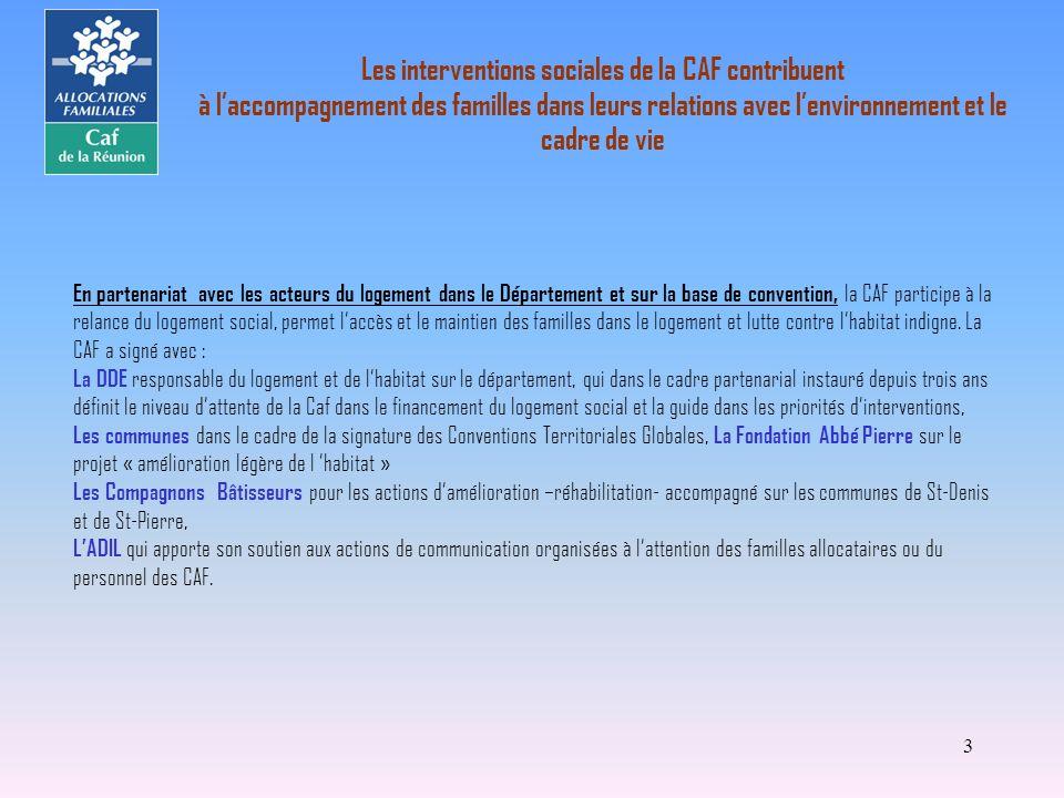 3 En partenariat avec les acteurs du logement dans le Département et sur la base de convention, la CAF participe à la relance du logement social, perm