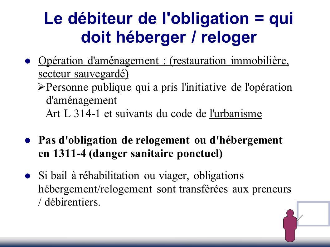 La proposition Obligation de résultat La proposition dhébergement ou de relogement doit être effective.