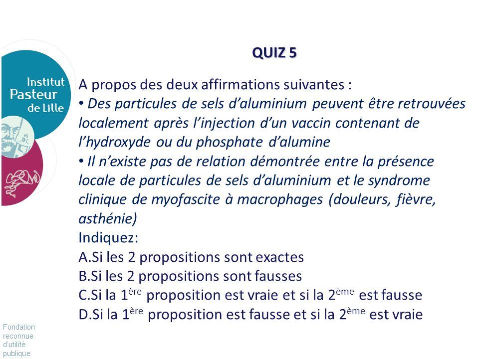 Fondation reconnue dutilité publique Pour vivre mieux, plus longtemps Laluminium dans notre environnement Un nourrisson reçoit, en fonction des vaccins recommandés et des différentes spécialités entre 1.95 et 3.5 mg dhydroxyde daluminium Inhalation journalière (air ambiant): 40µg/j = 1168 mg/80 ans Boissons et alimentation: 15 mg/j = 438g/80 ans Eau: 200µg/j = 5.8g/80 ans Antiacides 130 à 5000 mg/j