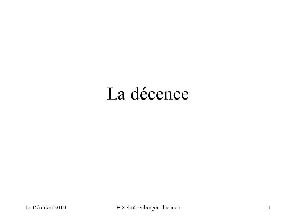 La Réunion 2010H Schutzenberger décence2 Les acteurs de la décence La CAF/MSA –Allocation logement FSL –Entrée dans un logement, maintien dans le logement Le locataire – La commission de conciliation –Le juge civil