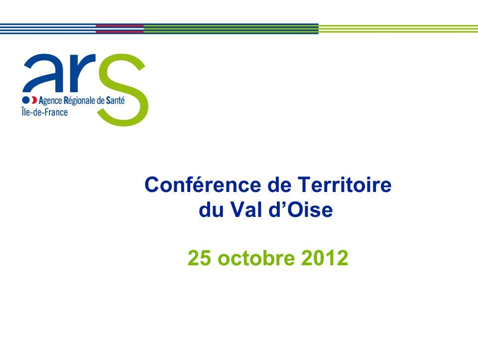 XX/XX/XX Conférence de Territoire du Val dOise 25 octobre 2012