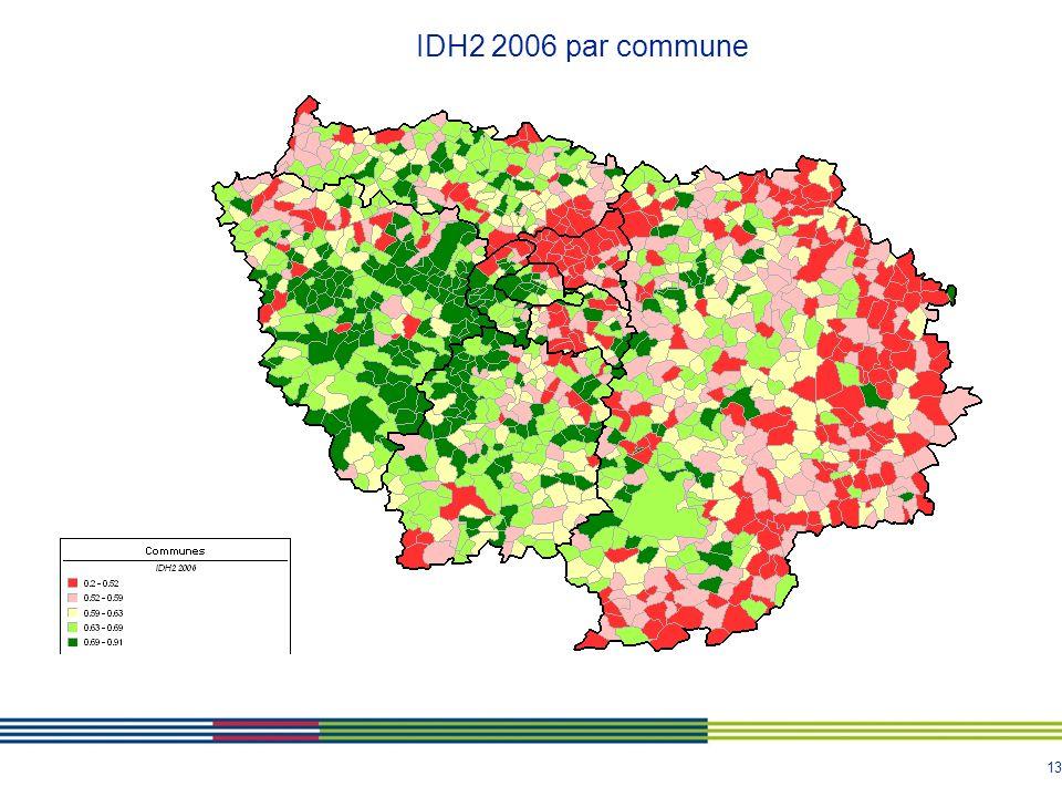 13 IDH2 2006 par commune