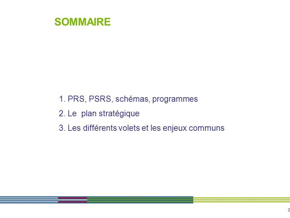 3 1. PRS, PSRS, schémas, programmes