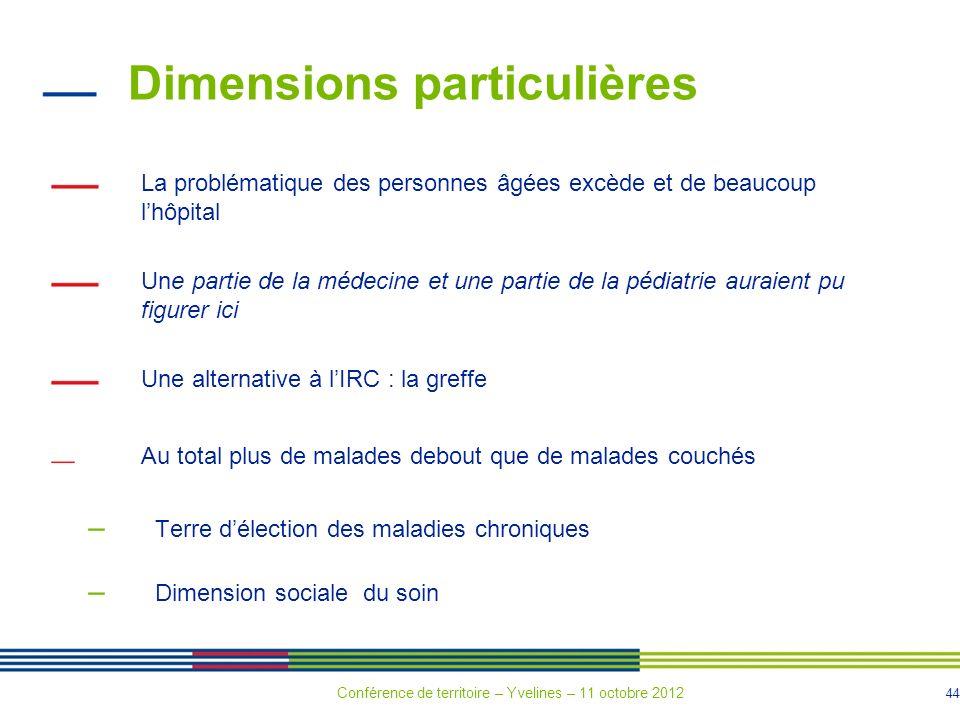 44 Dimensions particulières La problématique des personnes âgées excède et de beaucoup lhôpital Une partie de la médecine et une partie de la pédiatri