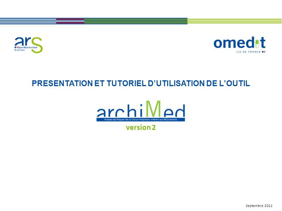 PRESENTATION ET TUTORIEL DUTILISATION DE LOUTIL version 2 Septembre 2012