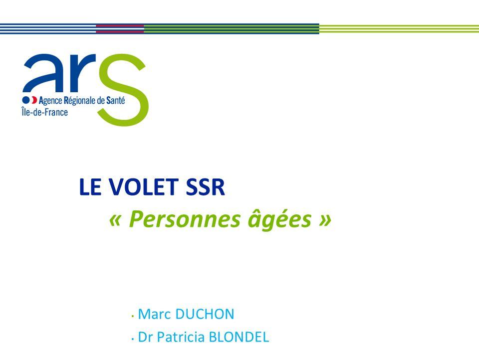 2 ARS Ile-de-France direction de loffre de soins et médico-sociale Volet SSR La réponse aux besoins ….