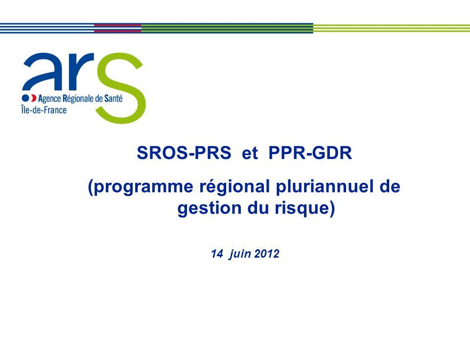 SROS-PRS et PPR-GDR (programme régional pluriannuel de gestion du risque) 14 juin 2012