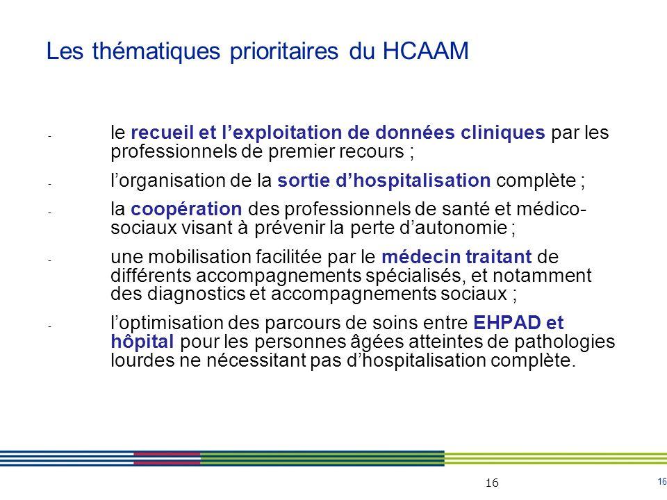 16 - le recueil et lexploitation de données cliniques par les professionnels de premier recours ; - lorganisation de la sortie dhospitalisation complè