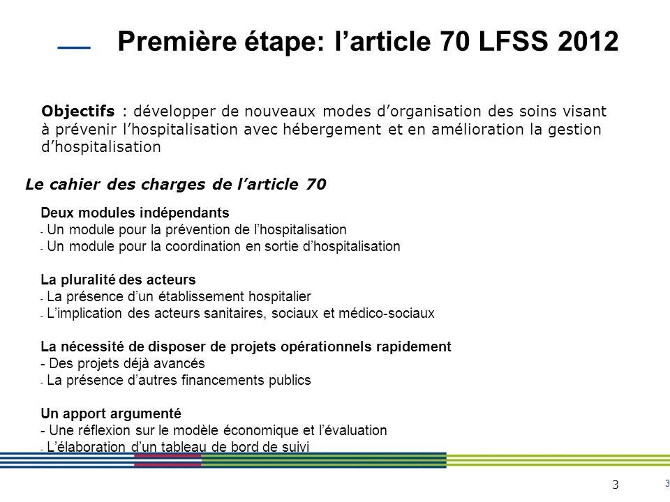 3 3 Deux modules indépendants - Un module pour la prévention de lhospitalisation - Un module pour la coordination en sortie dhospitalisation La plural