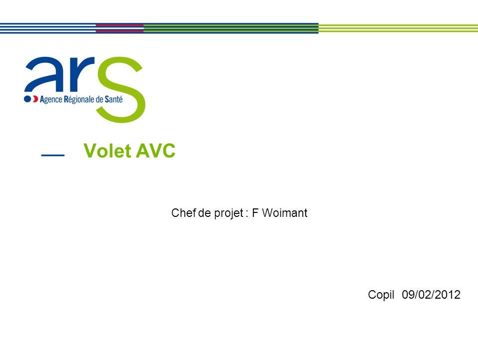 Volet AVC Chef de projet : F Woimant Copil 09/02/2012