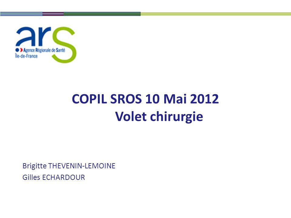 COPIL SROS 10 Mai 2012 Volet chirurgie Brigitte THEVENIN-LEMOINE Gilles ECHARDOUR