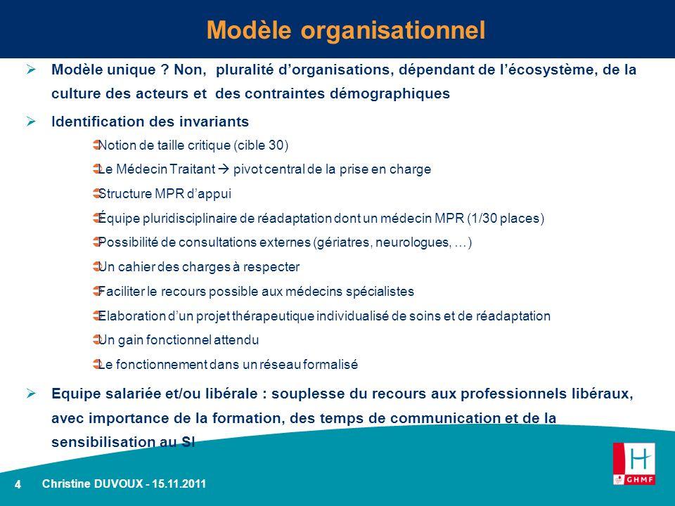 4 Modèle organisationnel Modèle unique .