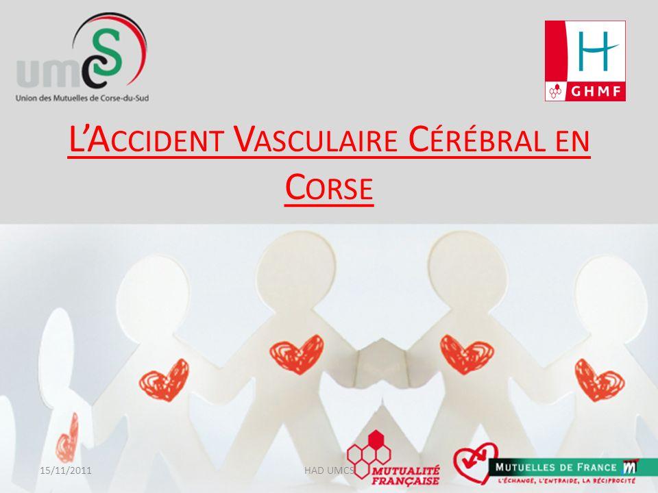 LAVC en Corse Pour la Corse, 905 accidents vasculaires cérébraux ont été dénombrés en 2010, dont 341 AIT et 565 accidents non transitoires.