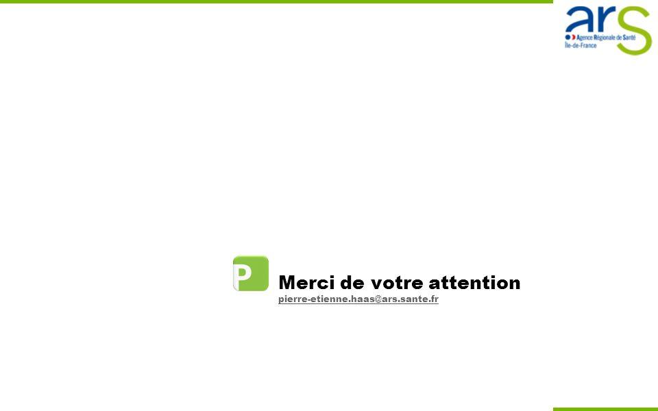 Merci de votre attention pierre-etienne.haas@ars.sante.fr pierre-etienne.haas@ars.sante.fr