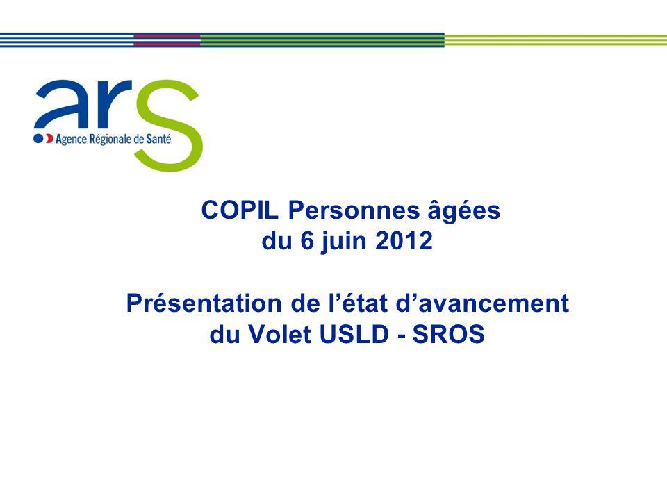 COPIL Personnes âgées du 6 juin 2012 Présentation de létat davancement du Volet USLD - SROS