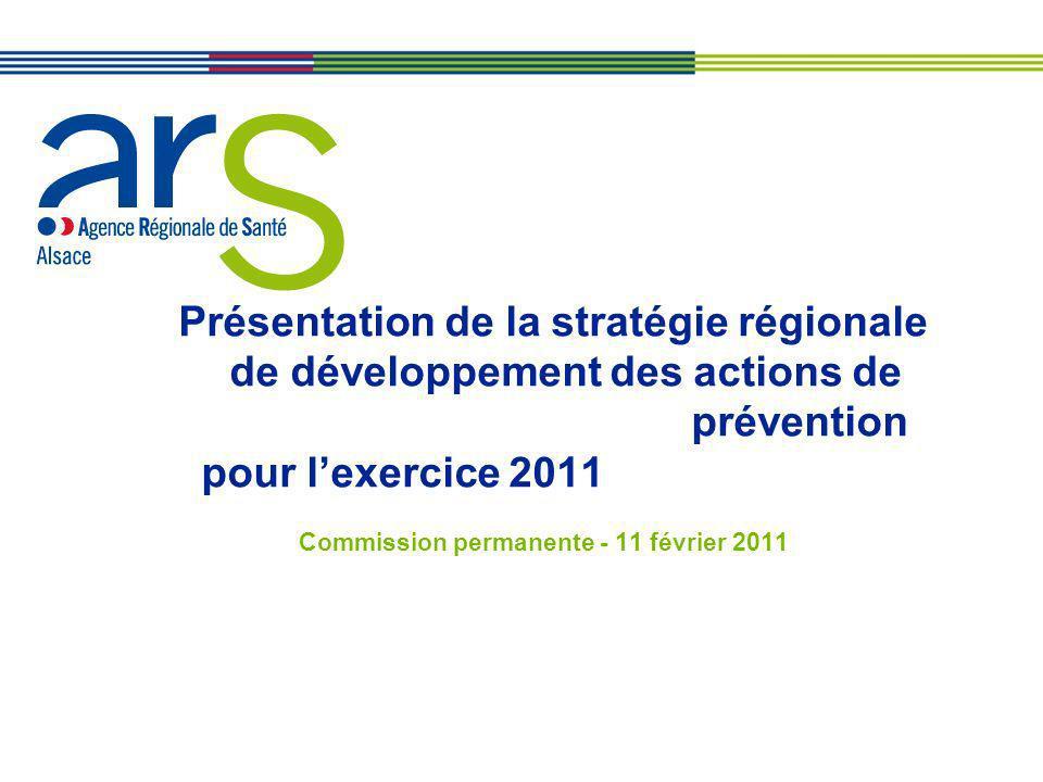 Présentation de la stratégie régionale de développement des actions de prévention pour lexercice 2011 Commission permanente - 11 février 2011