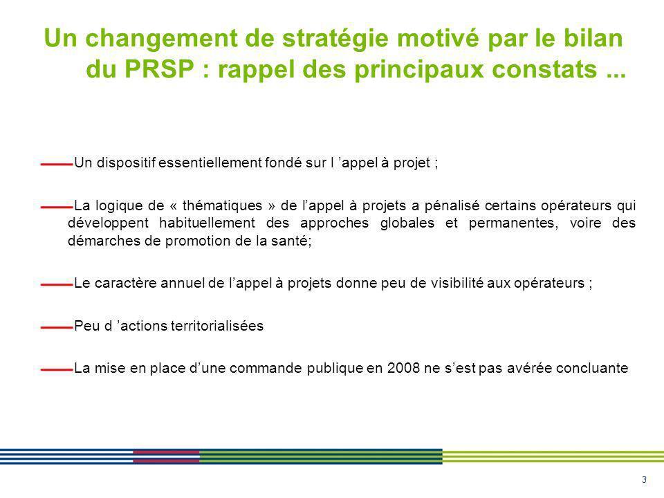 3 Un changement de stratégie motivé par le bilan du PRSP : rappel des principaux constats...