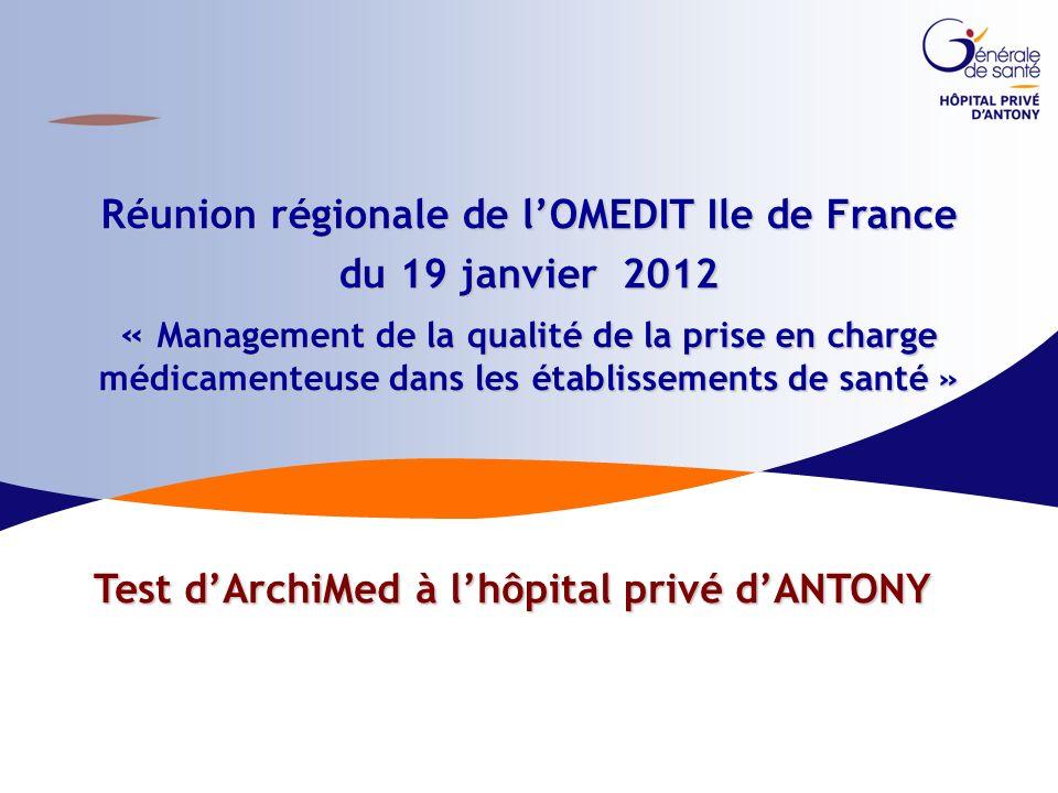 1|CBUMPP 2009-2011|12.03.14 Réunion régionale de lOMEDIT Ile de France du 19 janvier 2012 « Management de la qualité de la prise en charge médicamente
