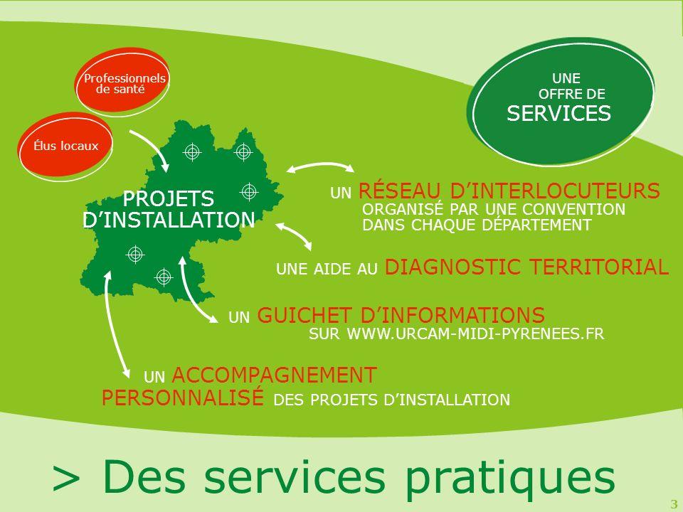 3 > Des services pratiques UN RÉSEAU DINTERLOCUTEURS ORGANISÉ PAR UNE CONVENTION DANS CHAQUE DÉPARTEMENT UNE AIDE AU DIAGNOSTIC TERRITORIAL UN ACCOMPA