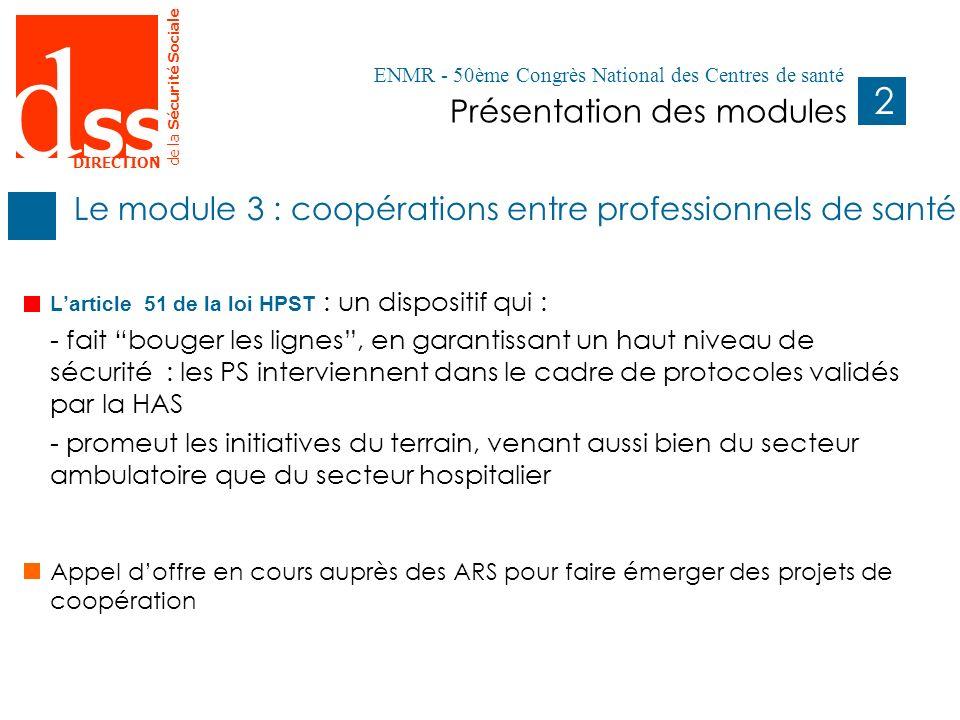 d SS DIRECTION de la Sécurité Sociale 2 Présentation des modules Pages 1- Remplacer le titre de la présentation et le titre de la rubrique.