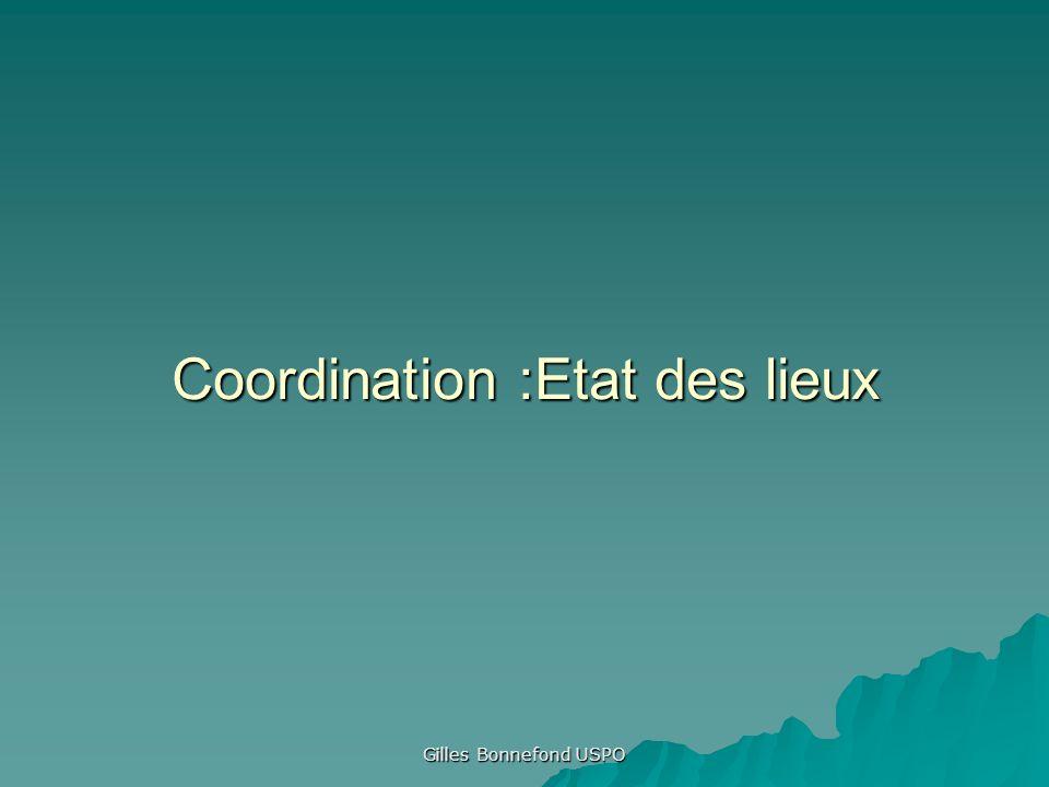 Gilles Bonnefond USPO Coordination :Etat des lieux