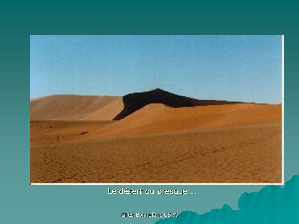 Gilles Bonnefond USPO Le désert ou presque …