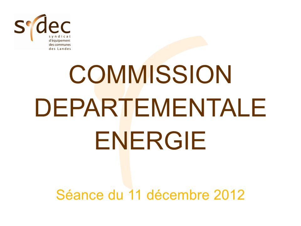 COMMISSION DEPARTEMENTALE ENERGIE Séance du 11 décembre 2012