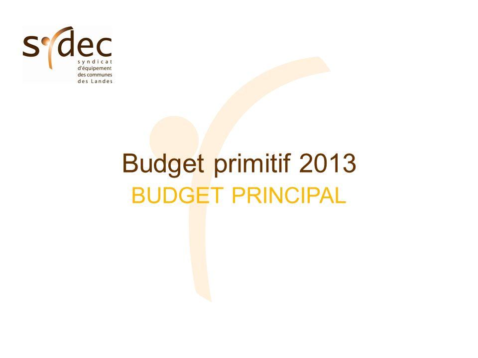 Budget primitif 2013 BUDGET PRINCIPAL
