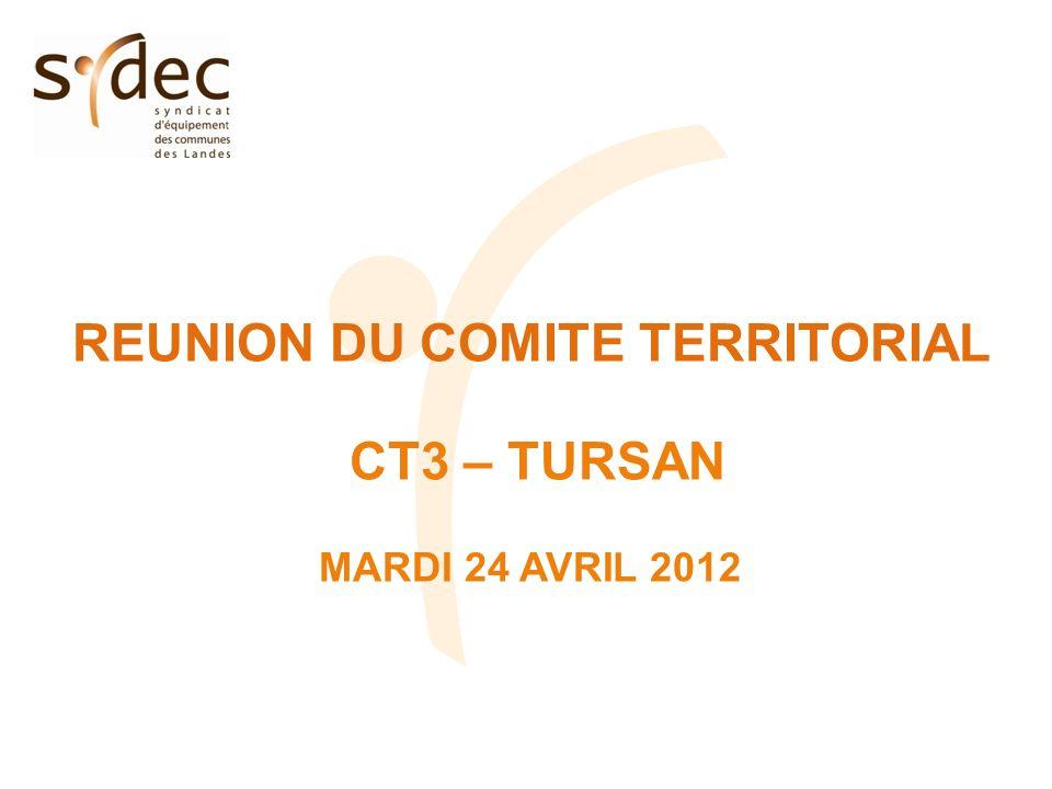 REUNION DU COMITE TERRITORIAL CT3 – TURSAN MARDI 24 AVRIL 2012