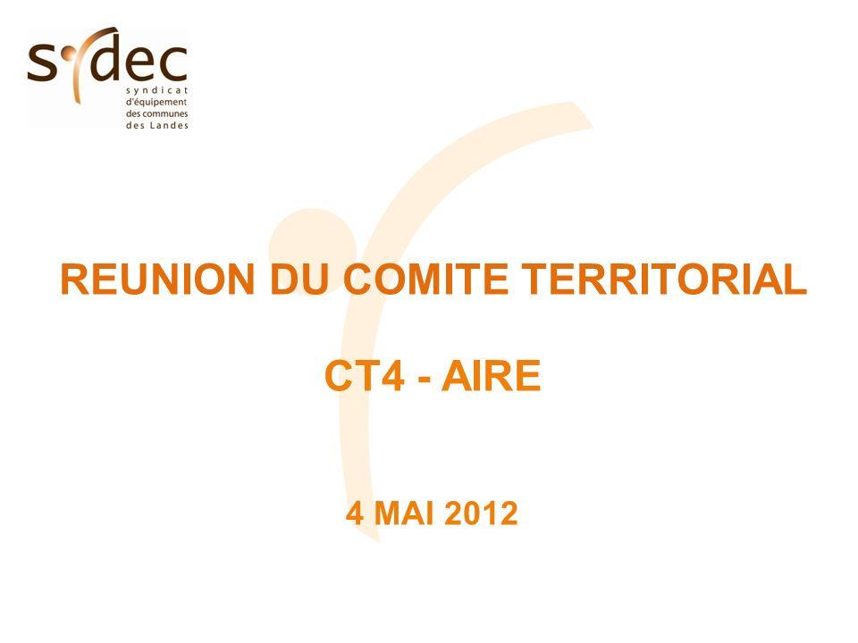 REUNION DU COMITE TERRITORIAL CT4 - AIRE 4 MAI 2012